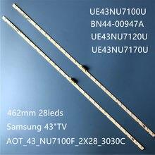 Tira conduzida luz de fundo (2) para Samsung 43NU7100 UE43NU7100 UN43NU7100 UE43NU7100U AOT_43_NU7100F UE43NU7120U UE43NU7170U BN96-45954A
