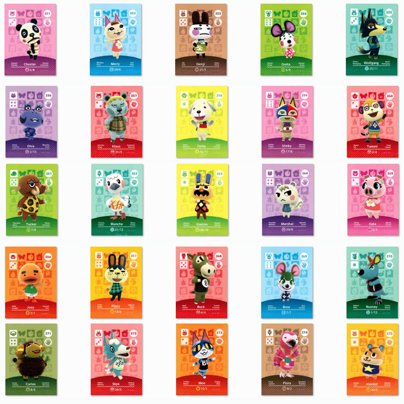 (251 To 275) Animal Crossing Card Amiibo Printed NFC Card Compatible Pick From The List