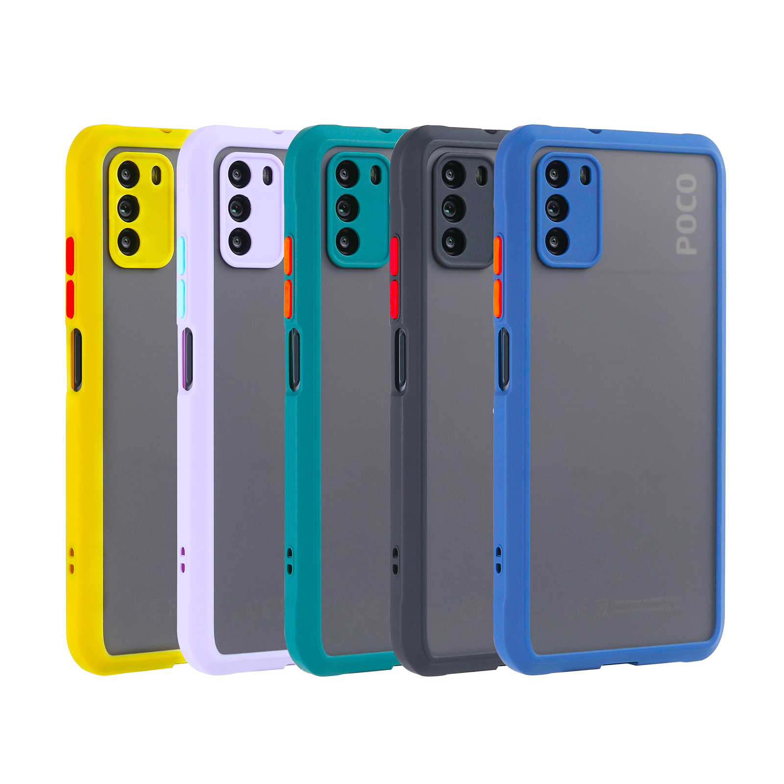 New Xiaomi Poco M3 Case Fashion Matte Back Cover Anti-Finger Coating Shockproof Protection PC+TPU For POCO M3 X3 Pro X3 NFC Case