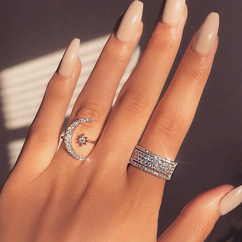 1Pcs-2019-Fashion-Ring-Moon-And-Star-Dazzling-Open-Finger-Ring-For-Women-Girls-Jewelry-Pure (1)