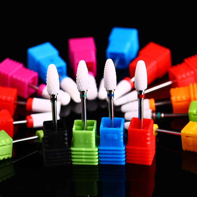 1 Pc Electric Ceramic Grinding Head Nail Drill Bits Colorful Mixed Size Ceramic Electric Nail Mills Cutter for  Machines 4