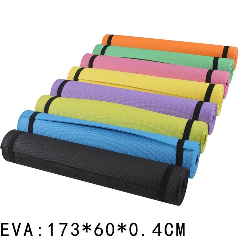 173*60*0,4 см EVA коврик для йоги, пилатеса, тренажерного зала, спортивные тренировочные колодки для начинающих, нескользящий коврик для фитнеса, ...