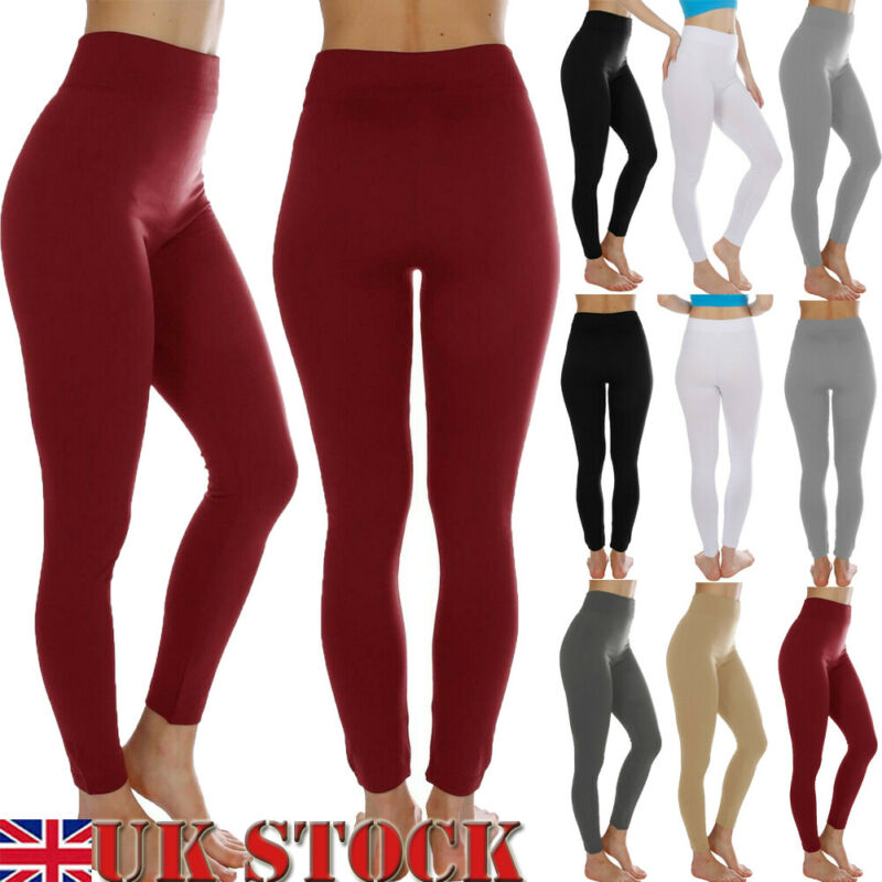 Fashion High Waist Fitness Leggings Women Workout Push Up Solid Underwear Bottons Trousers Solid Pants