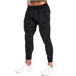 Calças magras casuais masculinas preto joggers sweatpantstrousers masculino ginásios fitness treino de algodão treino primavera outono roupas esportivas