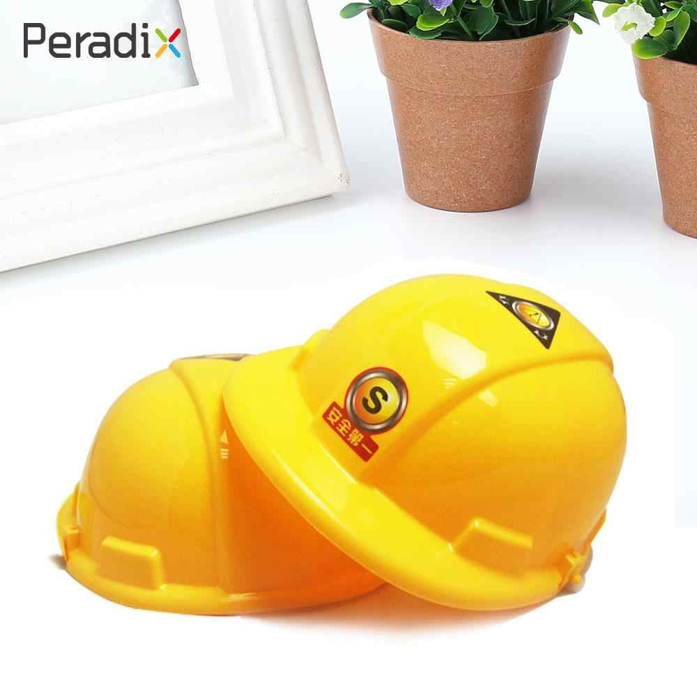 Kids Children Simulation Helmet Pretend Role Playing Construction Engineer Yellow Hat Safty Education Kids Toy