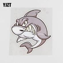 Yjzt 12.1cmx13.5cm feroz tubarão carro adesivo bonito pvc decalque acessórios 6a-0124