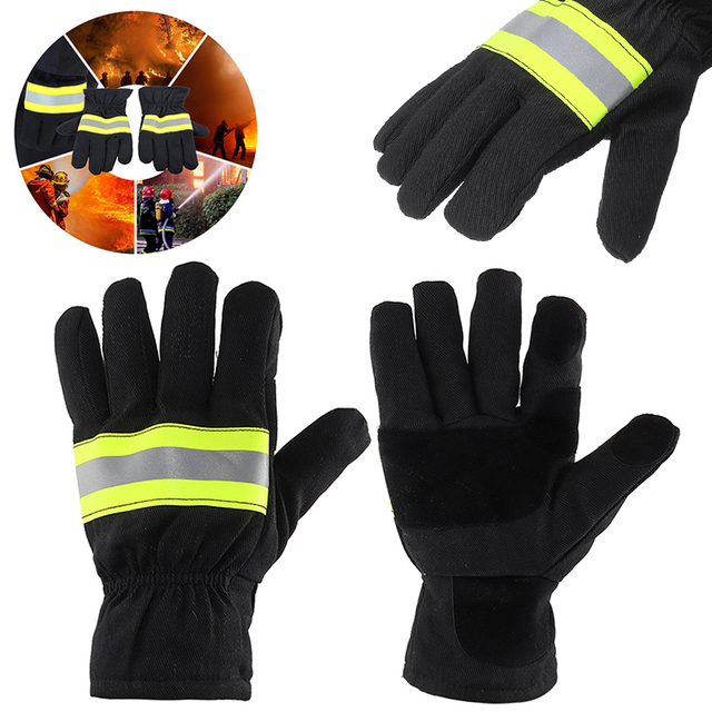 1 Pair Heat Insulation Fire Proof Gloves Protection Supplies For Welding And Cold Weather Firefighting Gloves