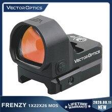 Óptica vectorial de frenesí de X x 1x X 22x26 MOS punto rojo alcance la despierto Sensor de movimiento de caza colimador reflejo visión pistola Glock 9mm 308