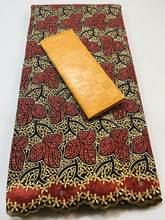2.5+2.5 Yards/set Swiss Voile Lace In Switzerland And Bazin Riche Fabrics 2021 New Guinea Senegal African Wedding Bazin FKM027