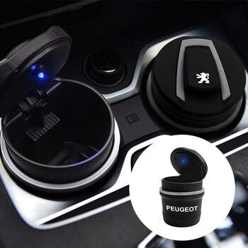 1 шт. Автомобильный светодиодный пепельница для мусора для хранения монет чашки кофе машина для укладки для Peugeot 206 308 307 207 208 3008 407 508 2008 RCZ авто|Пепельница в авто|   | АлиЭкспресс