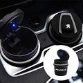 1 шт. Автомобильный светодиодный пепельница для мусора для хранения монет чашки кофе машина для укладки для Peugeot 206 308 307 207 208 3008 407 508 2008 RCZ авто