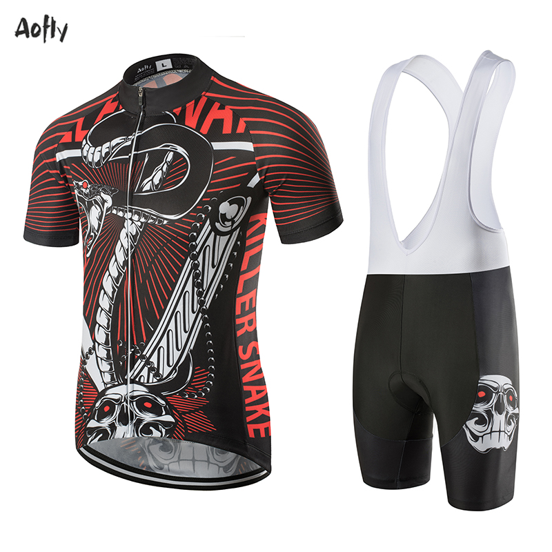 Aofly 2020 Summer New Men's Bicycle Straps Bib Shorts Cycling 9D Gel Men's Cycling Shorts Viper Style Top Red Black Skull Pants