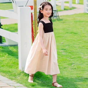 Image 5 - 2020 Summer New Girls Dresses Bow Baby Princess Dress  Two Colors Patchwork Sleeveless Kids Cotton Dresses for Children, #8291