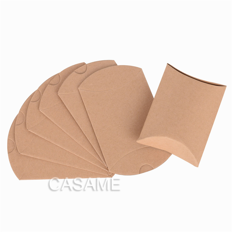 Apple Pie 50pcs New Kraft Paper Cute Small Pillow Shape Wedding Favor Gift Box Pie Pillow Box Boxes Party Candy Box Wholesales