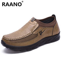 Grande Formato 38-48 Famous Brand Hollow scarpe Da Tennis All'aperto Slip On Piatte Scarpe casual Calzature Uomo In Pelle di Alta Qualità uomini Mocassini(China)