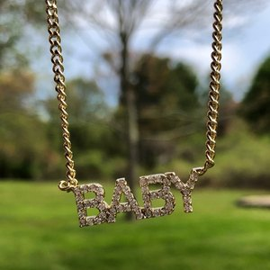 Image 1 - DOREMI Crystal Pendant Letters Necklace for Women Custom Jewelry Custom Name Necklaces Personalized Zirconia iced out pendant