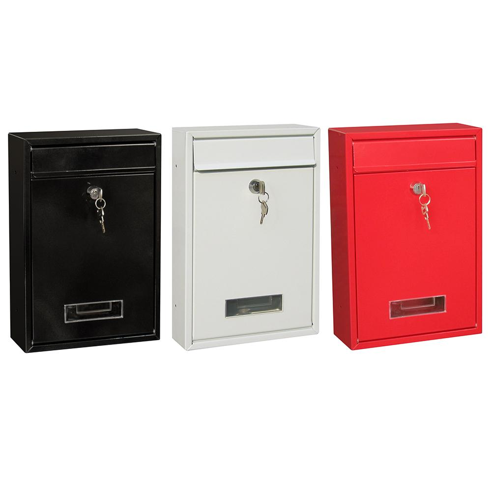 Outdoor Lockable Wall Mounted Hanging Iron Post Letter Box Mailbox With Key