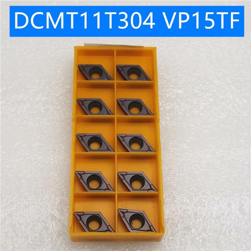 10PCS DCMT11T304  VP15TF Carbide Insert DCMT11 T304 VP15TF Face Mill Lathe CNC Tools DCMT11T304VP15 Internal Turning Tool