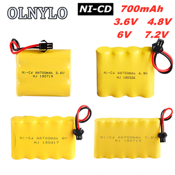 2.4V/3.6V/4.8V/6V/7.2V/8.4V Ni-CD AA Rechargeable Battery Pack For Remote Control Toys Electric Car Nicd Volt Bateria SM-2P Plug image