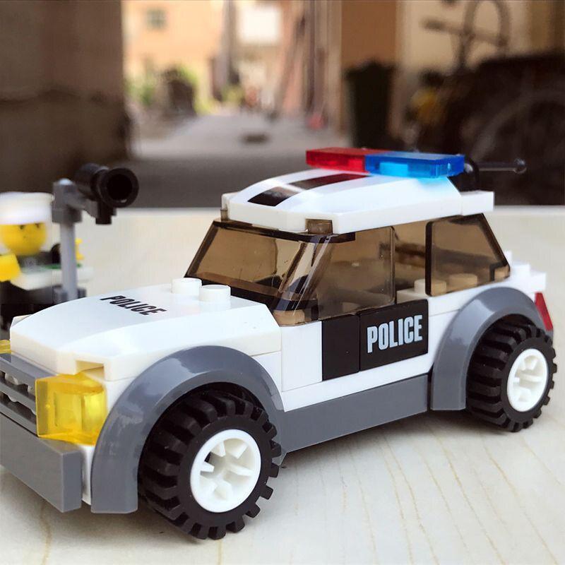 11206 City Police Patrol Car Model Figure Blocks Educational Construction Building Bricks Toys For Children Christmas