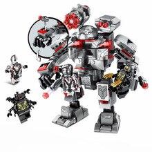 Super herói endgame final quinjet blocos de construção energia pedras luvas com figuras capitão homem modelo tijolos