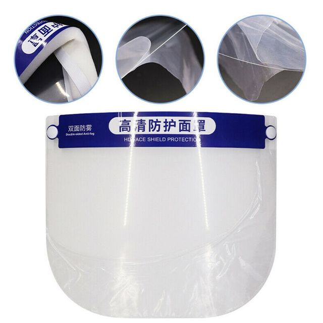 1Pc Multipurpose Transparent Adjustable Anti-saliva Dust-proof Anti-fog Full Face Protective Face Shields for adults for child