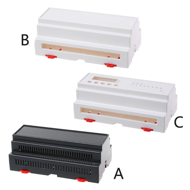 158x88x59mm ABS Plastic Box Enclosure Electronics Industrial Rail Project Case