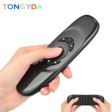 Wireless Keyboard C120 English Russian 2.4G RF Air mouse Remote Control With Voice Backlight for Android Smart TV Box X96 MAX minix neo a3 hebrew english optional keyboard remote usb wireless air mouse with voice input for minix android windows tv box