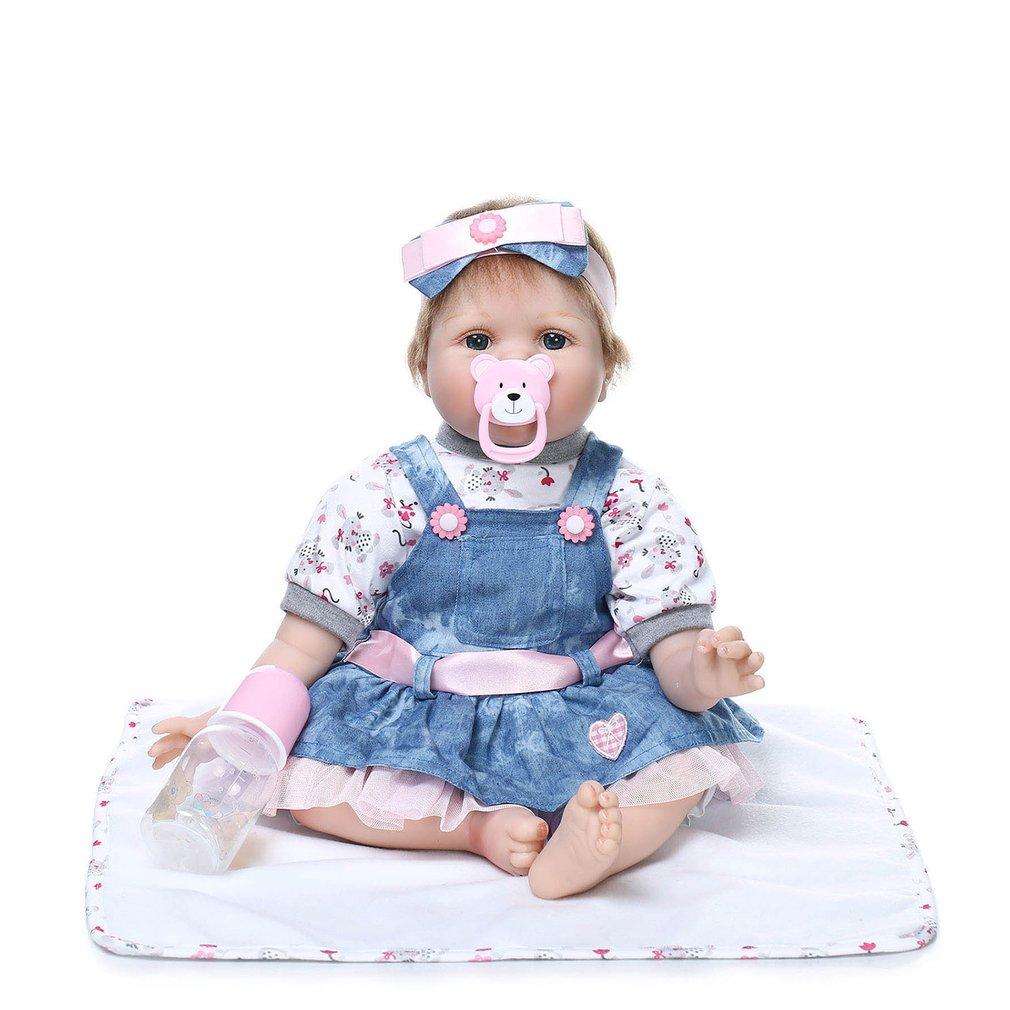 55 CM Realistic Handmade Doll Reborn Soft Vinyl Silicone Adora Lifelike Brinquedos Baby Bonecas Reborn Doll Toys For Girl Gifts