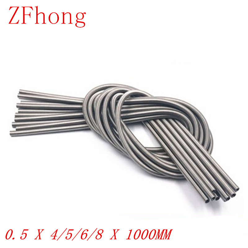 0.5 X 4/5/6/8 X 1000 Stainless Steel Super Long Tension Spring Extension Spring Wire Dia 0.3mm Out Dia 3mm/4mm/5mm Length1000mm