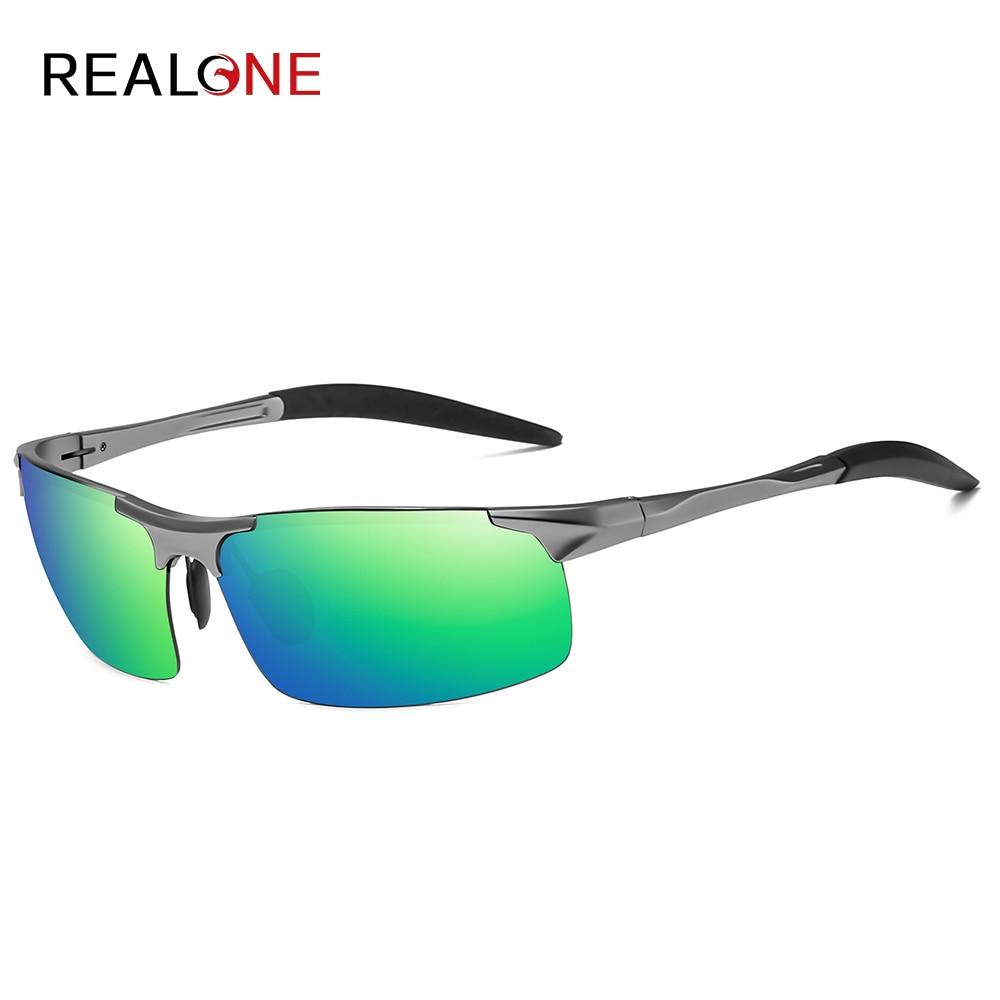 2020 New Men's Aluminum Magnesium Sunglasses Fashion Outdoor Running Sports Glasses Polarized Driving Glasses Isolate UV400