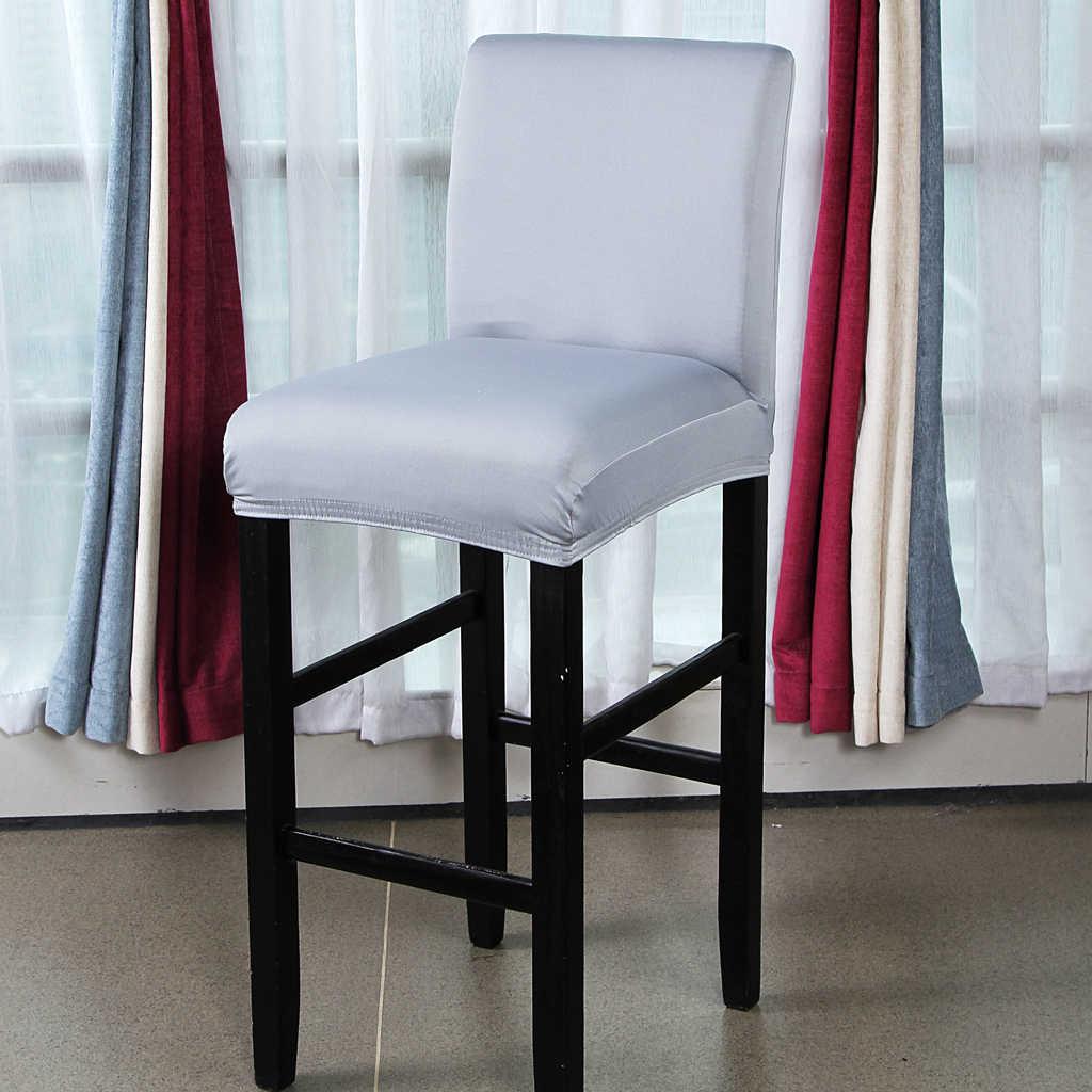ソリッドカラーのダイニングルームの椅子シートカバーバースツールカバーパーティーの装飾
