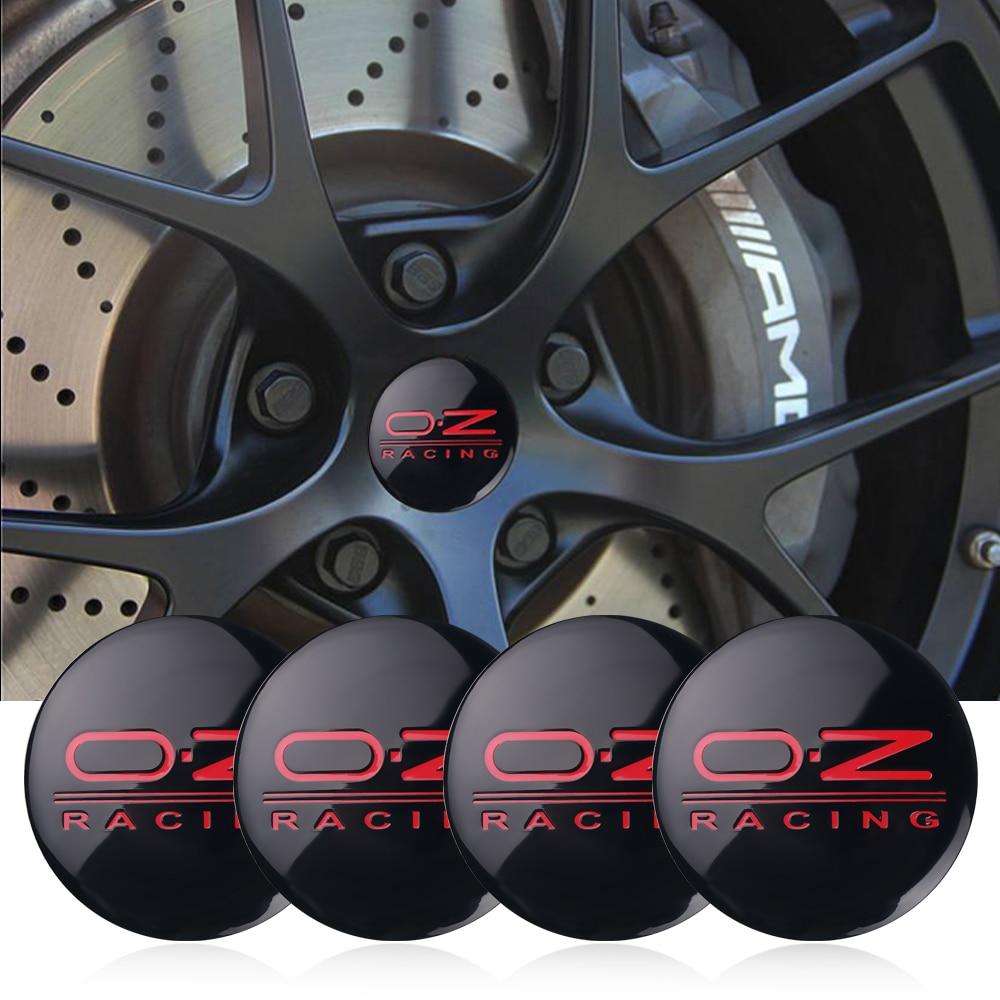 4 шт. 56 мм OZ Racing центральный колпак на колесо автомобиля знак Стикеры для BMW Citroen Форд Тойота Хонда Ниссан Ауди Chevy hyundai аксессуары