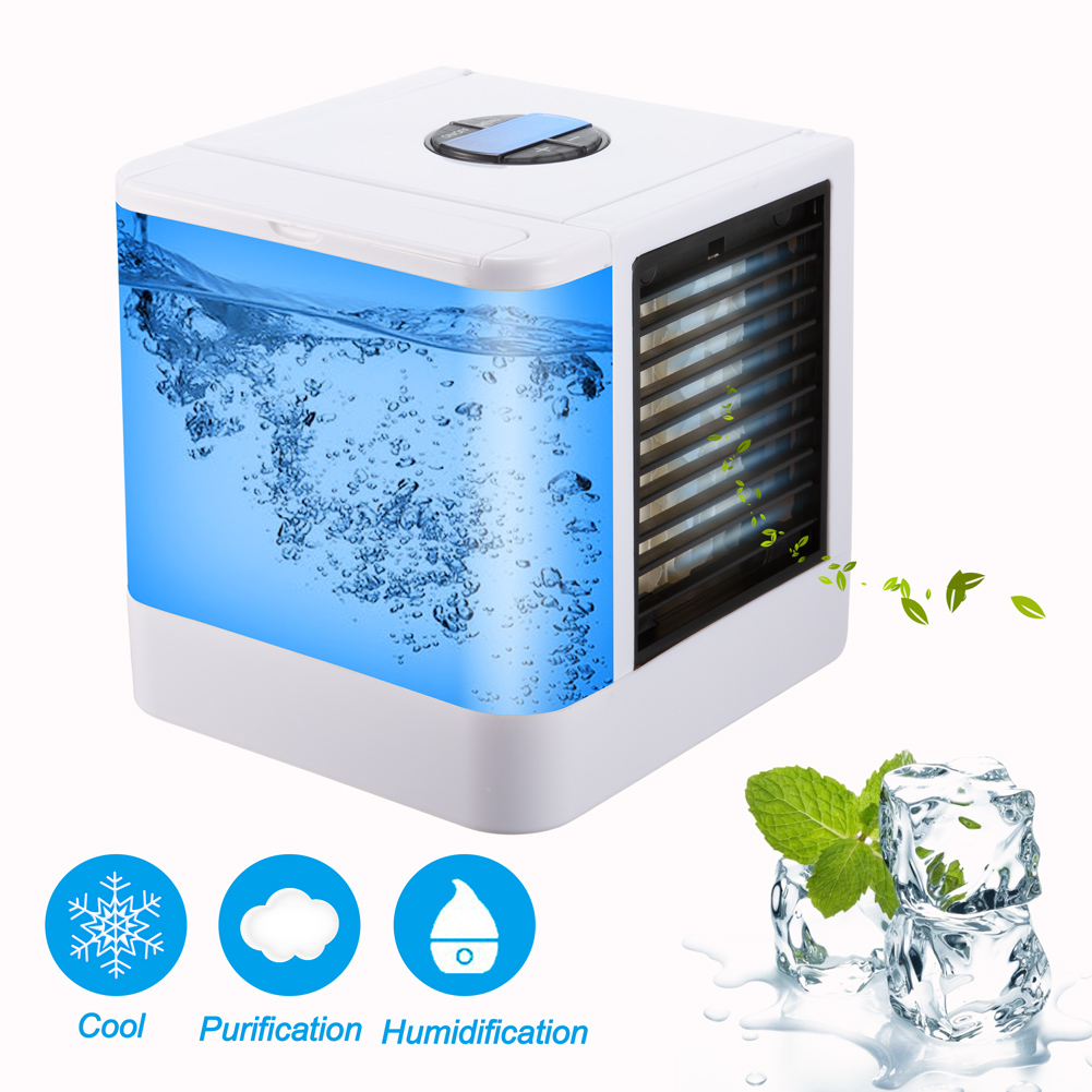 Portable Home Air Conditioner Summer Multifunctional Mini Air Conditioner Fan Humidifier Office Air Cooler 7 Colors