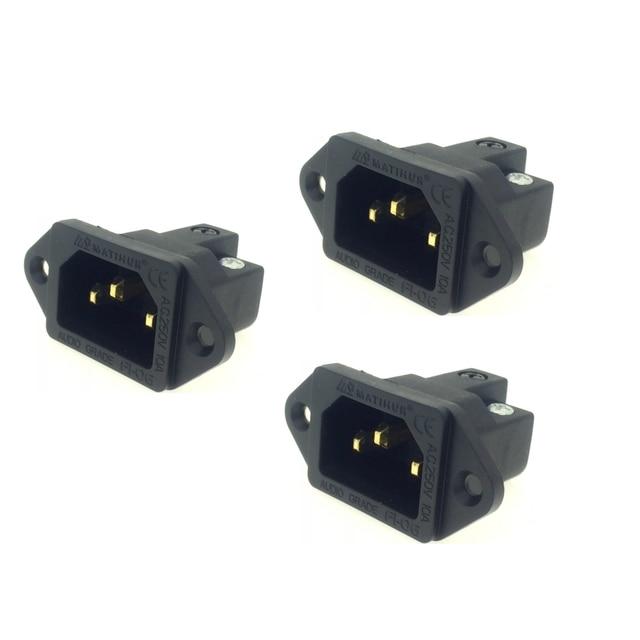 MATIHUR 24K AC IEC Inlet Gold Plated Socket Audio Grade RATING:15A/250