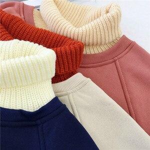 Image 5 - Hoodies ผู้หญิงคอเต่า Patchwork หนาฤดูหนาว Outwear Hoodie เกาหลีใหม่ Streetwear สตรี Casual Pullover แขนยาว