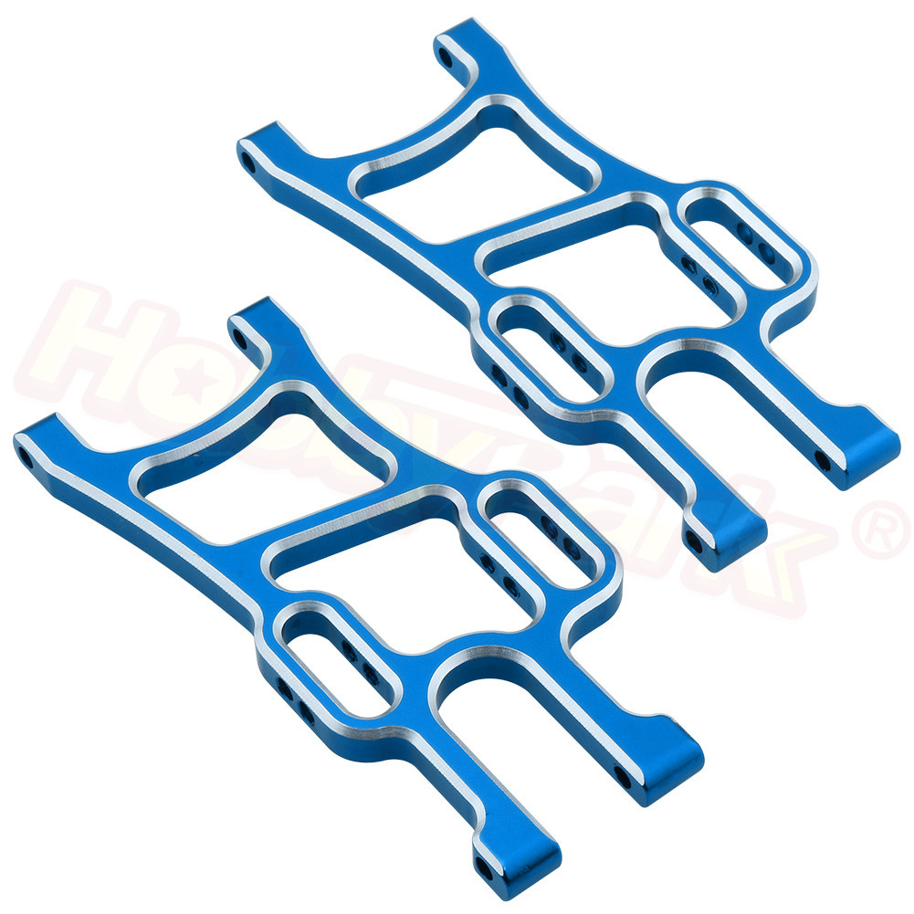 <font><b>108819</b></font> Aluminum Front Lower Arms (L/R) For RC 1:10 Redcat Volcano Epx (PRO) Exceed Infinity EP Monster Truck Blue / Purple image