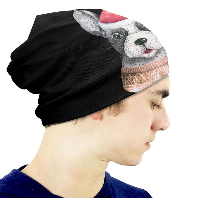 Christmas Dog Patterned Beanie