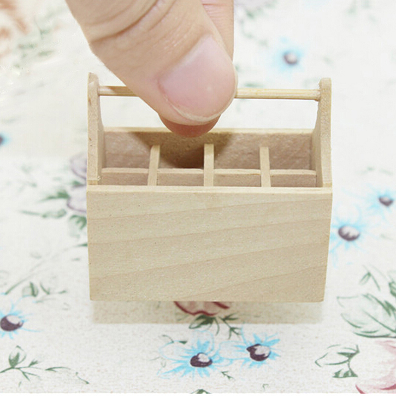 Miniature Dollhouse Wooden Toolkit Toolbox Furniture Toy Set Life Scenes 1/12 Scale Dolls Accessories Decor Model Toys