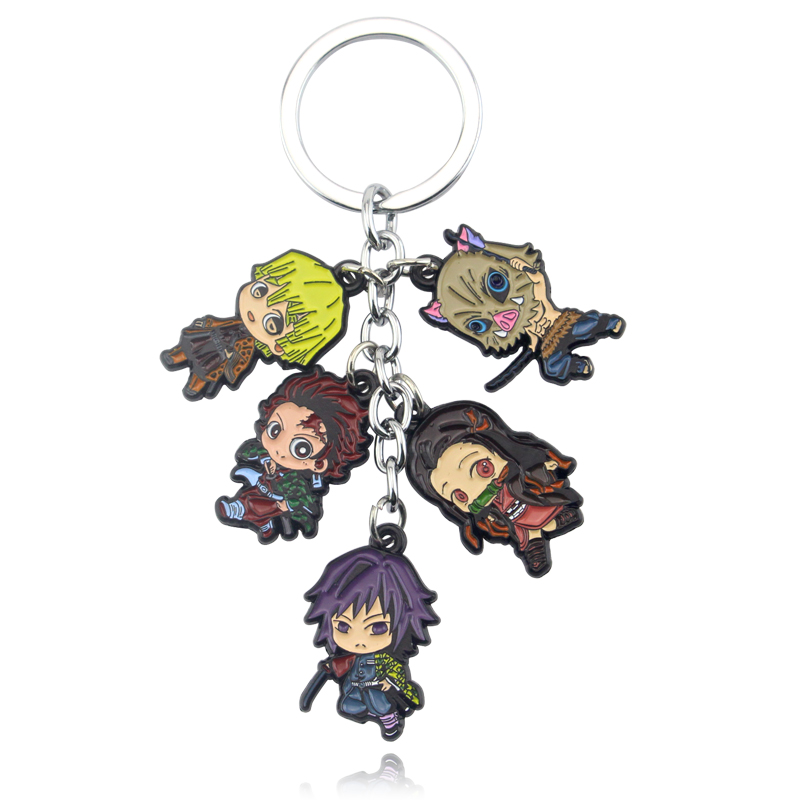 New Anime Acrylic Keychain Demon Slayer Kimetsu No Yaiba Blade Of Ghost Vintage Key Rings For Women Girl Cosplay Jewelry Gift