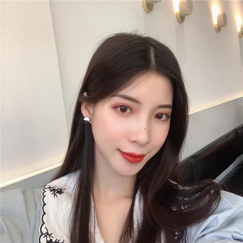 Cute White Cloud Raindrop Stud Earrings Delicate Blue Rain Waterdrop Earrings Clouds for Women Girls Ear Jewelry Gift Wholesale