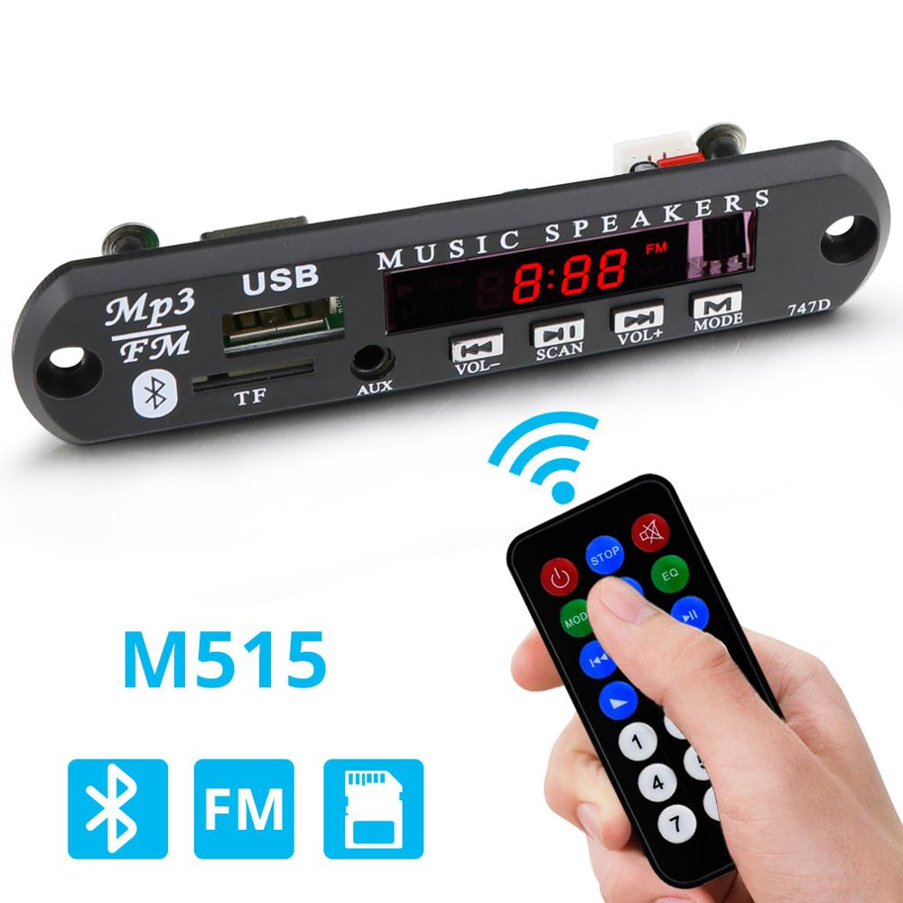 MP3 Player Bluetooth Decoder Board Wireless MP3 Module 12V Audio Player With Remote Control Radio USB TF For Car MP3 Decoder