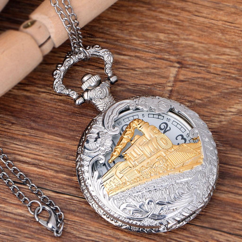 Cep antika tarzı romen rakamları cep saati erkekler kadınlar Vintage sihirli değnek kolye kolye hediye cep saati #5