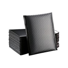 50Pcs Black Poly Bubble Mailer  Bubble Mailers Padded Envelopes for Gift Packaging Lined Poly Mailer Self Seal 15 x 19cm Bag