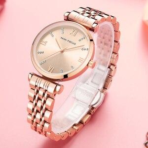 Image 4 - Mini Focus Vrouwen Horloges Top Merk Luxe Mode Dames Horloge 30M Waterdicht Rose Goud Rvs Reloj Mujer Montre femme