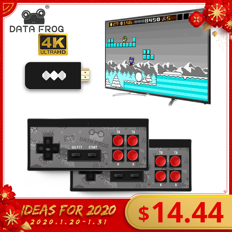 Data Frog USB Wireless Handheld TV Video Game Console Build In 600 Classic Game 8 Bit Mini Video Console Support AV/HDMI Output