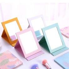 Espejo plegable de princesa para escritorio, espejo portátil para dormitorio de dibujos animados, espejo de papel cosmético, herramientas de maquillaje, 1 Uds.