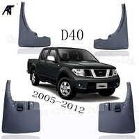 Garde-boue avant et arrière noir garde-boue garde-boue garde-boue garde-boue garniture pour Nissan navara d40 np300 2005-2012