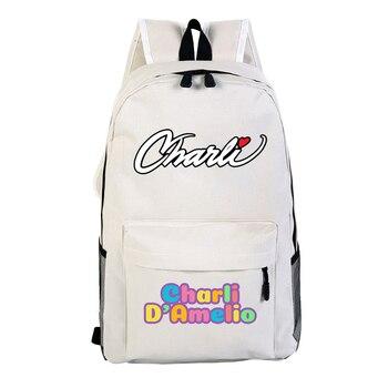 School Bags for Teenage Girls Charli Damelio Backpack Women Mochilas Escolares Bookbag Laptop Back Pack Men Kawaii Backpack Kids 17