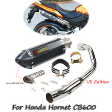 Hornet CB600 CB600F Exhaust Muffler Pipe Tail Mid Connect Link Pipe With DB Killer Motorcycle Exhaust Modified For Honda CB600